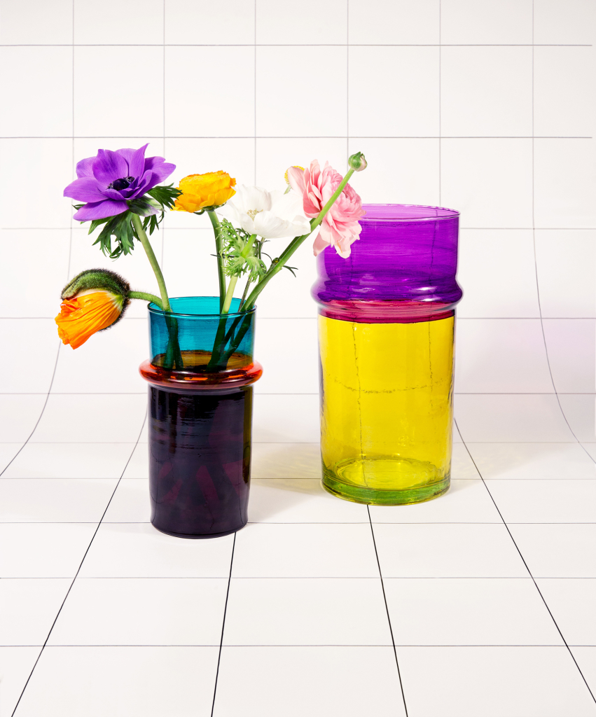Marrocan-Vase-L-yellow-S-purple